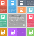 Tetris icon sign Set of multicolored buttons Metro vector image vector image