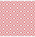 tile pattern with big red polka dots on white vector image vector image