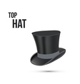 Top Hat isolated on white vector image vector image