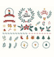 variety merry christmas decoration vector image vector image