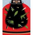 Villain Santa Claus Grandfather of terrorist with vector image vector image