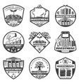 vintage monochrome money investment labels set vector image vector image