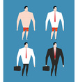 Businessman in business suit and briefcase Set man vector image