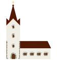 Church building vector image