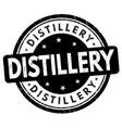 distillery sign or stamp vector image