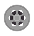 tape film isolated icon vector image