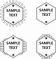 Set of hexagon logo vector image