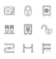 9 system icons vector image vector image