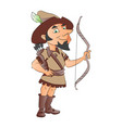 a man with bow and arrow vector image