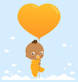african american baholding a balloon vector image vector image