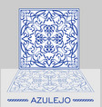 azulejo original portuguese ceramic tile with vector image vector image