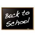 back to school blackboard vector image vector image
