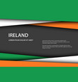 background with irish colors vector image vector image
