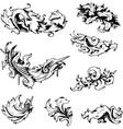 Baroque Decorations vector image vector image