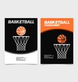 basketball brochure or web banner design vector image