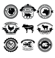 bbq labels vector image vector image