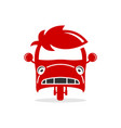bemo vehicle logo design vector image vector image