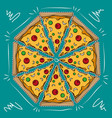 big pizza cartoon vector image