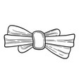 birthday girl bow icon hand drawn style vector image vector image