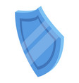 blue lab shield icon isometric style vector image vector image