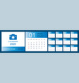 calendar 2020 desk calendar template set 12 vector image vector image