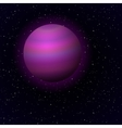 Cartoon Jupiter in open space vector image vector image