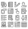 checklist and to do list icons set vector image vector image