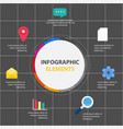 circle infographic elements report template vector image