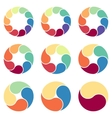 circles for infographic template vector image