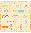Colorful sunglasses and glasses seamless pattern vector image vector image