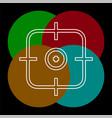 crosshairs icon - target aim vector image