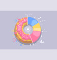 donut icon creative infographic vector image