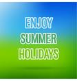 Enjoy Summer Holidays typographic design vector image vector image