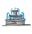 fountain hand drawn design on white background vector image vector image