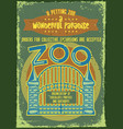 gates to zoo on vintage background vector image
