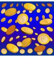 golden rain vector image vector image