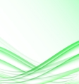 Green and white waves modern futuristic abstract vector image vector image