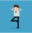 happy businessman flat style vector image