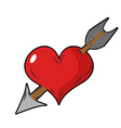 Heart and arrow Symbol of love Design element for vector image vector image