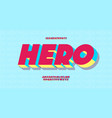 hero font 3d bold style vector image