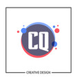 initial letter cq logo template design vector image