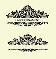 Label ornaments 1 vector image vector image