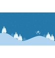 Landscape on the hill Christmas holiday vector image vector image