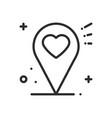 location line icon map pin pointer sign and vector image