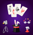 magic effect trick symbol magician tools vector image