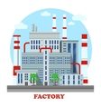 Manufacturing plant or factory with pipes vector image vector image