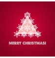 merry christmas greeting card with words vector image vector image