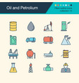 oil and petrolium icons filled outline design vector image