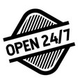 open 24-7 stamp on white vector image