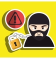 pc hacker safe design vector image vector image